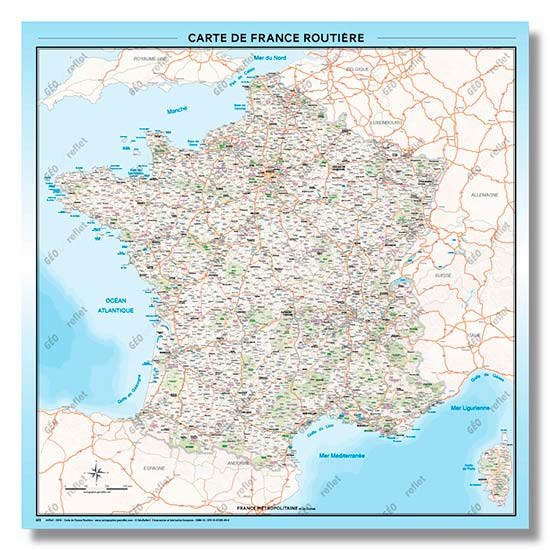 nouvelle carte de france routiere geante 2019