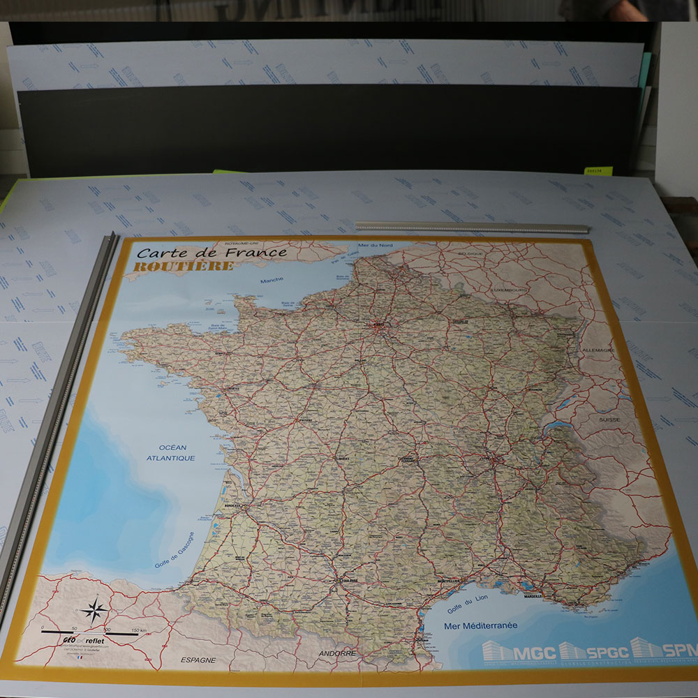 carte france magnetique plastifiee muret